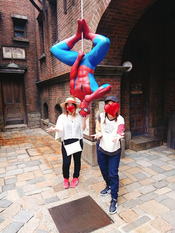 スパイダーマンと写真